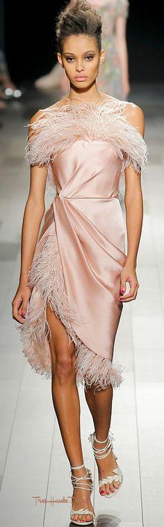 #Marchesa Spring 2018 RTW #NYFW #NYFWss18 pink cocktail dress