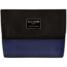 Balmain Cosmetic Bag ($45) ❤ liked on Polyvore featuring beauty products, beauty accessories, bags & cases, makeup purse, travel toiletry case, purse makeup bag, make up purse and balmain perfume