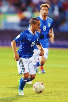 Sebastian Giovinco playing for Italia national team