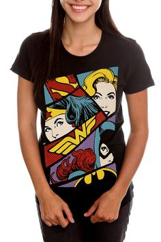 DC Comics Girl Superheroines Girls T-Shirt For Women