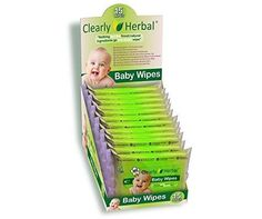 Clearly Herbal 15 count Herbal Baby Wipes ( 12 packs of 15 count = 180 wipes), Handy To Go Packs of Wipes Baby Skin Care, Baby Care, T Baby, Herbalism, Toddler Bed, Packing, Count, Diapering, Confused