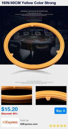 16IN/40CM Yellow Color Strong Rubber Anti Slip Glass Universal Rotary Base Dining Table Turntable Bearing TV Swivel Stand * Pub Date: 23:12 Apr 11 2017