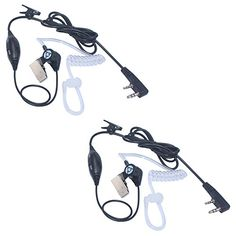 Arama Covert Air Acoustic Earpiece for Baofeng UV5R UV5RA 888S Kenwood PUXING HYT Linton Wouxun Etc 2 Way Radio Walkie Talkies 2 pack B009VK01 ** Want additional info? Click on the image.