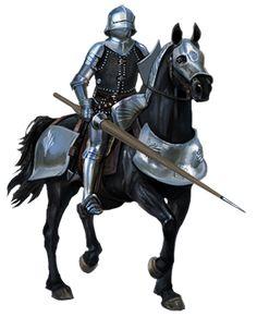 m Fighter noble Plate Armor Helm Lance Shield Horseback Barding male Castle med Medieval Knight, Medieval Armor, Medieval Fantasy, Character Portraits, Character Art, Fantasy Warrior, Warrior Pose, Knight Art, Early Middle Ages