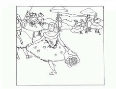Degas - Art Appreciation coloring pages Art appreciation coloring pages - tape to shrinky dink page. color. punch holes two holes in one side for a book. Shrink. Make a book of famous art - colored by you.