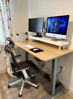 Best Ergonomic Office Chair, Best Office Chair, Home Office Setup, Home Office Space, Home Office Design, House Design, Office Chairs, Office Desk, Study Room Decor