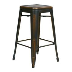Bristow Antique Copper 26 Inch High Metal Barstool, Set Of 2 Office Star Products Bar Heig