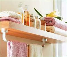 small bathroom storage ideas, would solve 2 problems at once