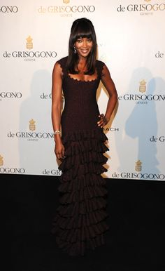 Naomi Campbell in Azzedine Alaia at the de Grisogono party (2011)