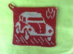 Ravelry: DF-Topflappen VW Käfer pattern by maku flo Ravelry, Pot Holders, Vw, Knitting Patterns, Embroidery, Potholders, Tutorials, Breien, Knit Patterns