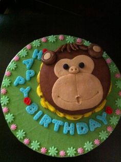 2D Monkey cake by... Cake it with Barbara <3