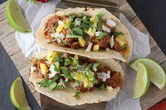 Slow Cooker Al Pastor Loaded Tacos