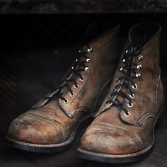 Walk a mile in an old man's boots, and you wont have to buy them artificially worn out.