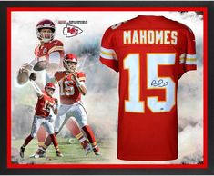 0c0d77d9142 Patrick Mahomes Kansas City Chiefs Framed Autographed Nike Red Game 2018 NFL  MVP Jersey Collage - Authentic Signed