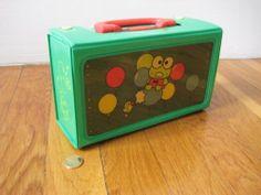 Vintage Sanrio Keroppi Lunch Box Frog Pencil Case School Supplies Retro 1991   eBay