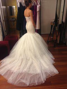 When I had my last fitting! #bride #inesdisanto