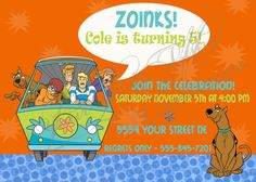 Scooby Doo Birthday Invitation. $15.00, via Etsy.
