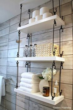 Over The Toilet Storage Ideas For Extra Space Hook Connected Hanging  Shelving