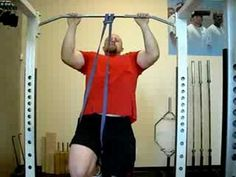 Assisted Band Pull Up - I saw it with the person standing on the band, but this gives the general thought.