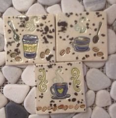 "Java Coffee Cup Ceramic 3 "" Tile"