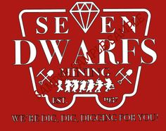 Disney Shirt : Seven Dwarfs mining, 7 Dwarfs, 7 Dwarves, Mine train, Disney World, Snow white, 7D