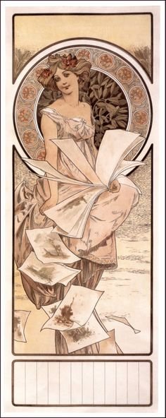 ❤ - Alphonse Mucha | Calendar Champagne - 1897.
