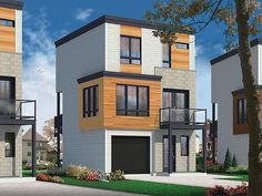 Contemporary Modern Elevation of Plan 76463