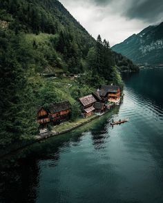 Hallstatt is a village on Lake Hallstatt's western shore in Austria's mountainous Salzkammergut region Wonderful Places, Beautiful Places, Beautiful Pictures, Places To Travel, Places To Visit, Travel Destinations, Into The Wild, Nature Photography, Travel Photography