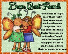 Best friends deserve the best cards of appreciation. Free online As Wonderful As You ecards on Friendship Cute Friendship Quotes, Bff Quotes, Miss You Cards, Friends Day, Im Sad, Name Cards, Card Sizes, Beautiful Day, Make Me Smile