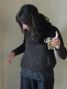 great everyday sweater. design by melissa labarre, knit by cochenille