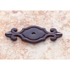 "JVJ Hardware - Classicl Collection Old World Bronze Finish 3"" Deco Back Plate for Knob -46712"
