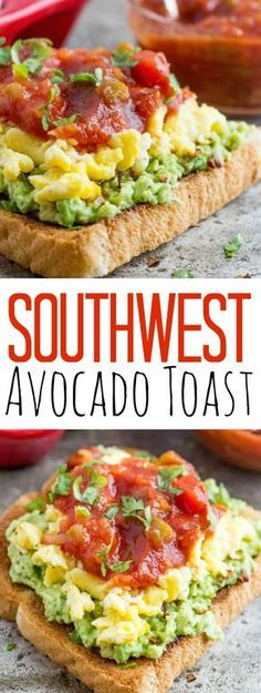 Travel, Natural Remedies, and Recipes This southwest avocado breakfast toast is DROOL WORTHY! I can't wait to have this in the morning!This southwest avocado breakfast toast is DROOL WORTHY! I can't wait to have this in the morning! Avocado Toast, Avocado Breakfast, Breakfast Toast, Breakfast Time, Breakfast Sandwiches, Vegan Breakfast, Sweet Breakfast, Breakfast Dessert, Breakfast Ideas With Eggs