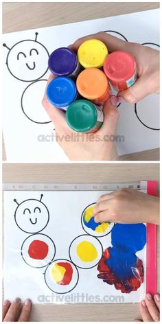 Kids Discover Mess Free Painting for Kids - Active Littles Arts And Crafts For Kids Toddlers, Preschool Arts And Crafts, Toddler Art Projects, Fun Arts And Crafts, Daycare Crafts, Classroom Crafts, Baby Crafts, Toddler Crafts, Art For Kids