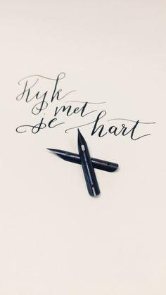 Kijk met je hart - Studio Met Marjet - Brause 513 penpunt #nib #calligraphy #kalligrafie