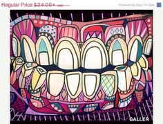 Surreal tooth Art Print Poster of Painting by Heather Galler  __________________________________________________________    This is part of a