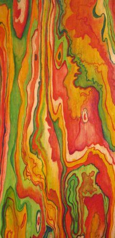 wow! plywood art - reminds me of rainbow eucalyptus that I saw on Maui