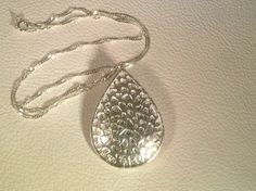 NEW for Fitbit Flex wearers   Special Edition Metallic Silver with Silver leather pendant by Mantovani Designs, $39.00