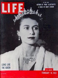 Newly-crowned Queen Elizabeth February 1952