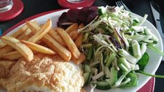Slimming World fish and chips with salad