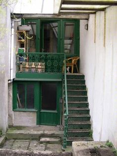 Upstairs and through the doorway