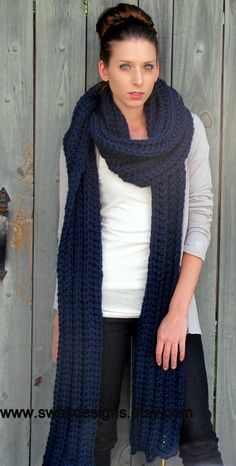 Convertible Tundra Eternity Scarf Oversized Wool by SWAKCouture