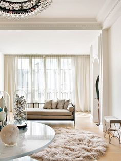 The refined interior of the apartment in Paris
