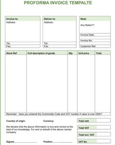 Definition Proforma Invoice Invoice Template Free  Meaning