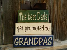 Grandpa/Fathers day wood blocksThe best dads by BuzzingBeesCrafts, $18.00