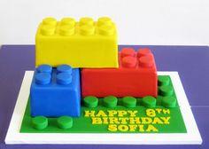 Giant Lego Birthday Cake.