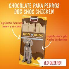 El chocolate para perros Dog Choc Chicken es un snack muy sabroso con sabor a pollo que viene presentado en una tableta de chocolate igual a las nuestras. Es un alimento específico para perros, totalmente seguro y sin azúcar, con el que podrás recompensar a tu mejor amigo con lo que más le gusta sin poner en riesgo su salud.