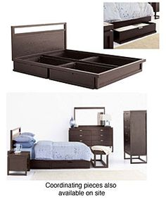 Eliza Queen-size Bed with Storage Space