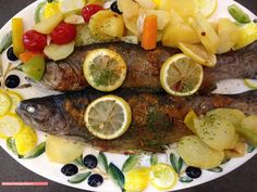 fischi`s cooking and more....: forelle aus dem backofen....