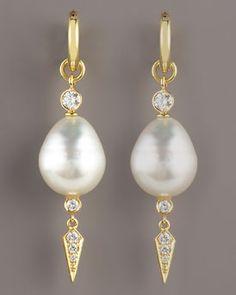Assael  Dangle Pearl Earrings