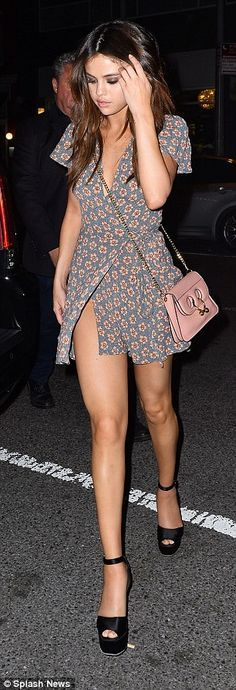 Gorgeous girl: Selena ensured she was dressed to impress for her night out in the Big Appl...